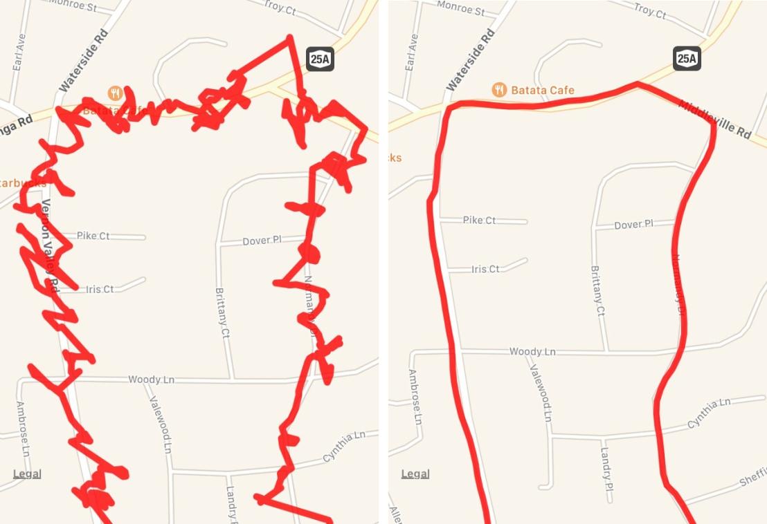 mapmyrun vs garmin routes