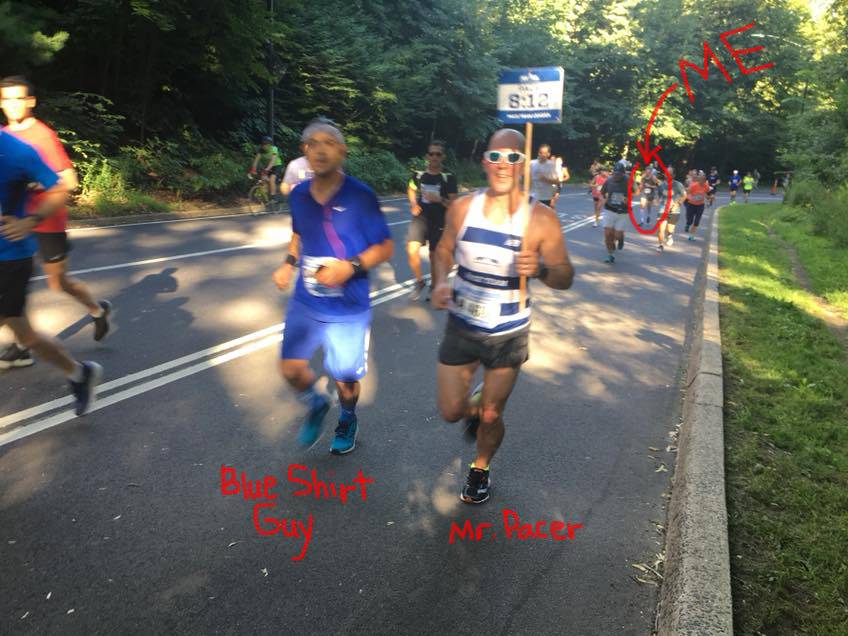 12 mile training run pacer guys - cr