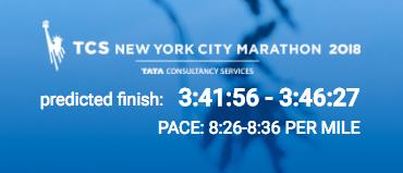 marathon predicted finish 1