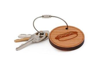 hot dog key chain