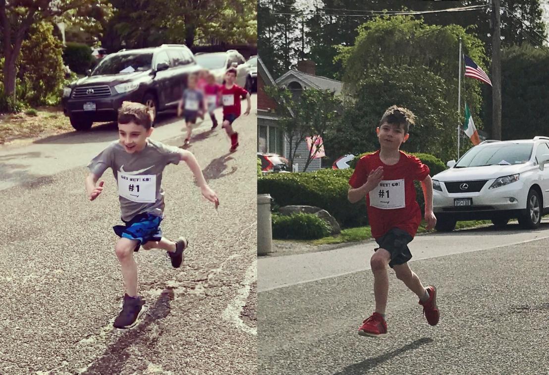 Logan Dylan running form